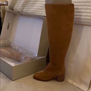 Marc Fisher- wide calf -suede- over the knee boots